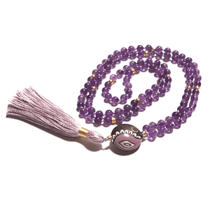 Amethyst Meditation Beads Mala for Refocusing