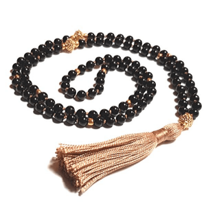 Handmade Tourmaline Protection Mala Yoga Bead Necklace