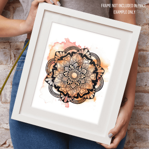 Framed example of Summer Mandala Print by Aimee Fergusson