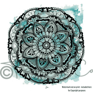 Watermarked copy of Winter Mandala Print by Aimee Ferguson
