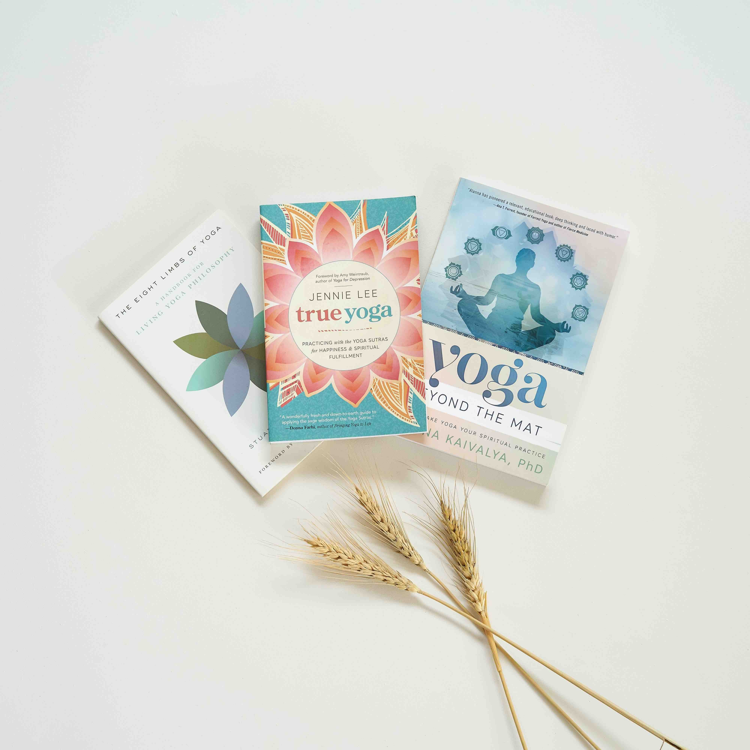 Collection of yoga books