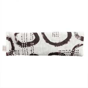 Pebble patterend Eye Pillow -Brown circle and dot patter