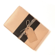 Plain kraft paper with black band and twine tie
